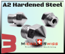 Micro Swiss Plated A2 Hardened Steel Nozzle MK10 for All Metal Hotend ONLY
